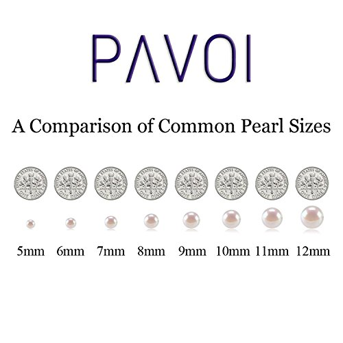 PAVOI Sterling Silver White Freshwater Cultured Pearl Necklace (18, 9mm) by PAVOI (Image #3)