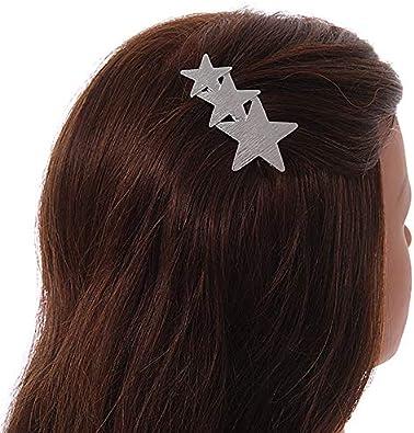 Avalaya Pince /à Cheveux Triple /étoile ray/ée Argent/é 65 mm W
