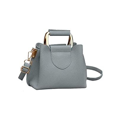c8f040f7a3 sac à bandoulière en litchi décontracté Femme Sac seau portable Simple