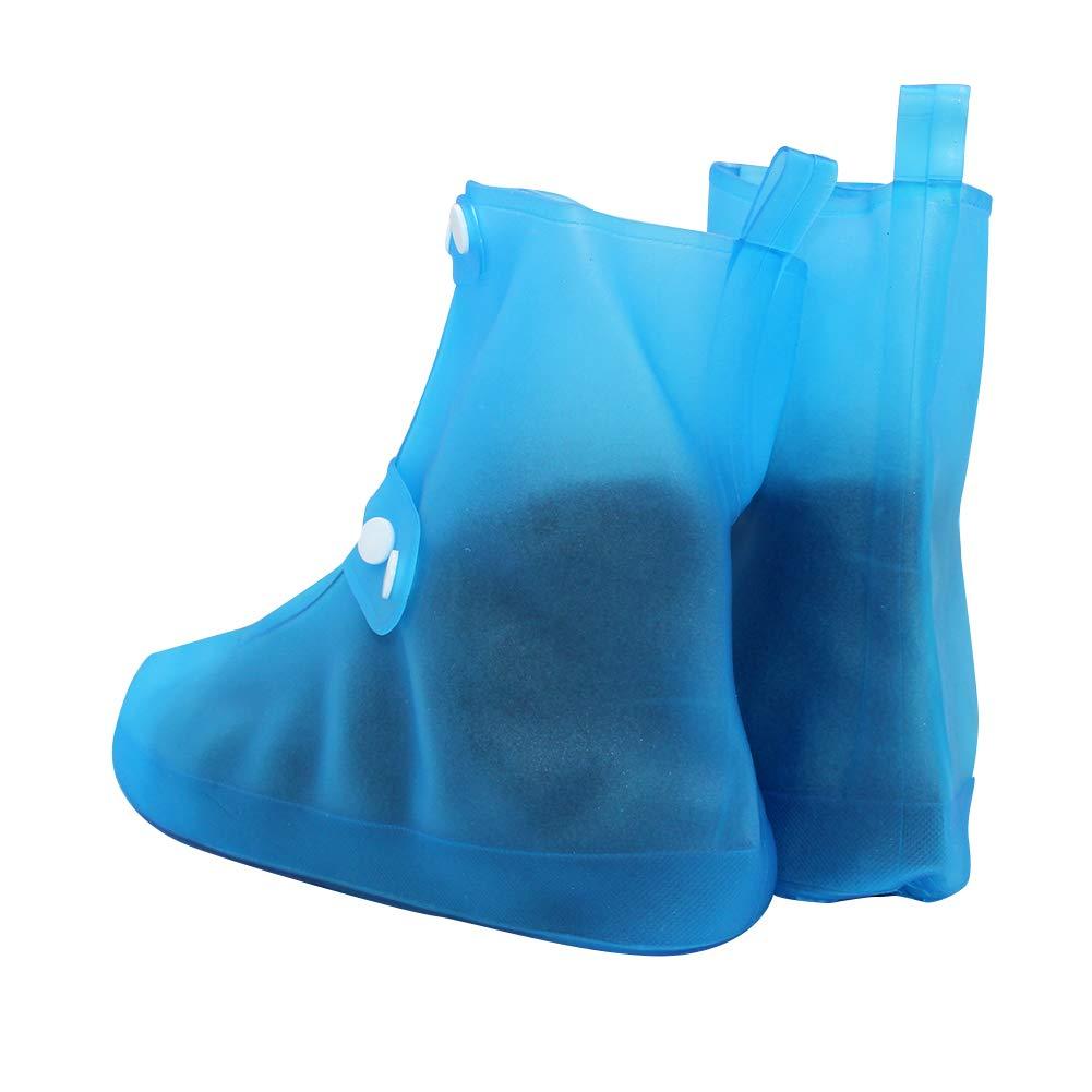 Impermeabili Soprascarpe Riutilizzabile Leggera Resistenti Suola Bottone Antiscivolo PVC Pioggia Stivali Unisex uirend Scarpe Prodotti Pulizia Accessori Copriscarpe