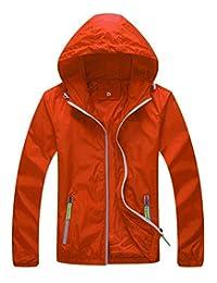 Men Women Lightweight Water Resistant Windproof Active Outdoor Hoodie Jacket