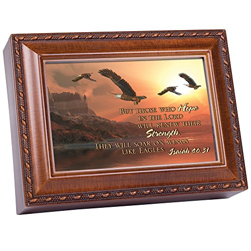 - Cottage Garden But Those Who 3D Woodgrain Music Box/Jewelry Box Plays On Eagles Wings