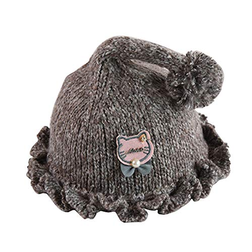 Price comparison product image Meixinggu Infant Toddler Baby Knit Hat Earmuff Wool Yarn Cap Cartoon Cute Warm Winter Hat for Boys / Girls (Coffee)