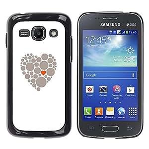 Be Good Phone Accessory // Dura Cáscara cubierta Protectora Caso Carcasa Funda de Protección para Samsung Galaxy Ace 3 GT-S7270 GT-S7275 GT-S7272 // Heart Meaning Deep Grey White Lov