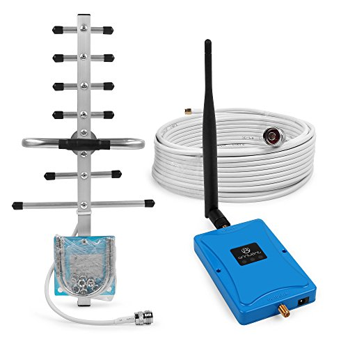 ANNTLENT GSM 850MHz 3G Cell Phone Repeater Signal Booster 65dB CDMA Amplifier Kit with 2 Antennas for AT&T Verizon (850MHz Right Angle+Yagi Antenna with 15m Cable)