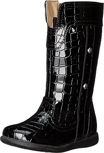 W6yz Baby Girls Cato  Toddler Little Kid  Black Croc Patent Flat