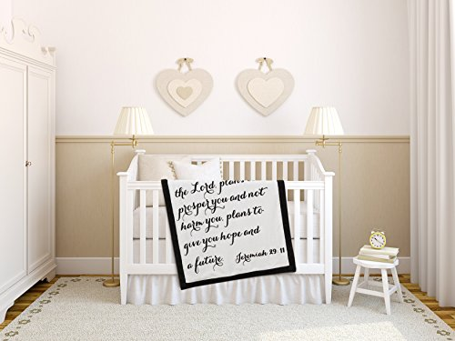 Luxuriously Soft Scripture Throw Baby Blanket | Jeremiah 29:11 | 30x40 inches (Brown) Array Small Back Chair