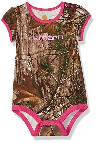 Carhartt Baby Girls Short Sleeve Body Shirt, Realtree Xtra Camo, 3M