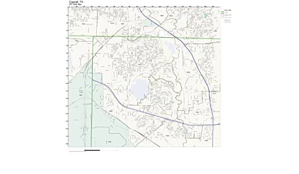 Coppell Tx Zip Code Map.Amazon Com Zip Code Wall Map Of Coppell Tx Zip Code Map Laminated