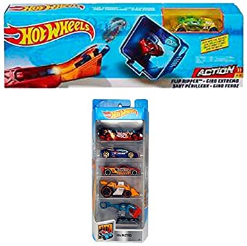 Hot-Wheels Action Flip Ripper (FTH83) + Pack 5 HW Metro: Amazon.es ...