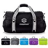 Foldable Sports Duffel Small Gym bag for Men Women Kids,Lightweight Waterproof with Pockets