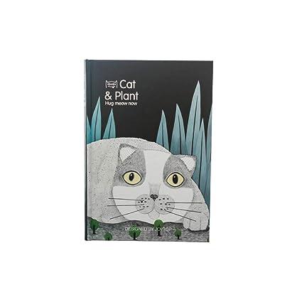 Spaufu 1x Cuaderno de Notas para Escribir Estudiante Lindo Gato de Dibujos Animados Bonitos Blocs Diario