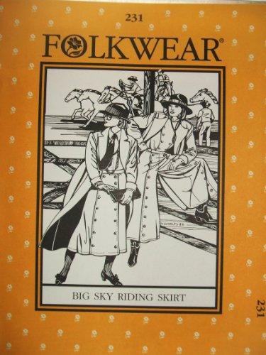 Big Sky Riding Skirt - Folkwear #231 Big Sky Riding Skirt Western Cowgirl Sewing Costume Pattern