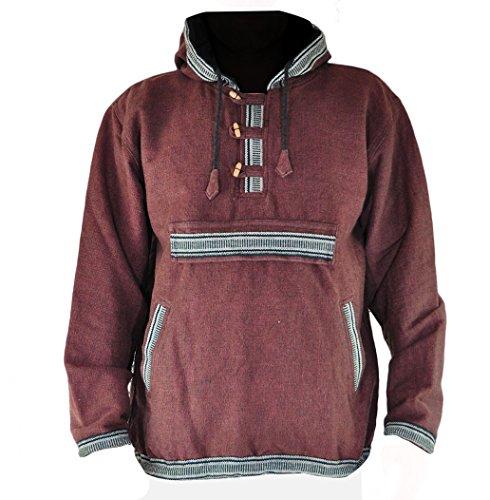 virblatt - Mens Baja Hoodie and Hippie Sweater Baja Jacket Men Hoodie Sweaters Men - Sphärenhaft BRM