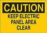 Brady 10'' X 14'' X .06'' Black On Yellow .0591'' B-401 Polystyrene Caution Sign''KEEP ELECTRIC PANEL AREA CLEAR''