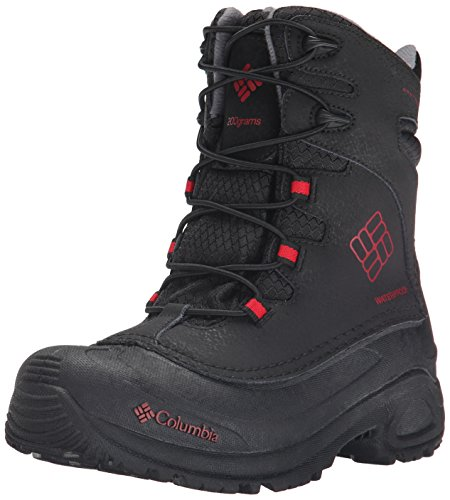 Columbia Youth Bugaboot Plus III Omni-Heat Boot  Black, Rocket  - 2 M US Little Kid ( Little Kid (4-8 Years) ) (2 Rocket Boot)