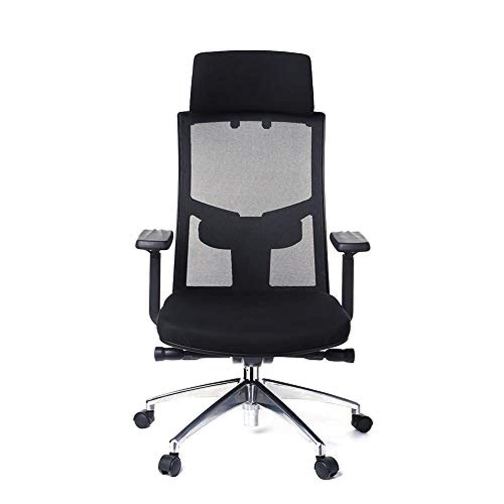 Office Chair, Ryokozashi Ergonomic Office Chair High Back Mesh Office Chair Adjustable Headrest Computer Desk Chair for Lumbar Support