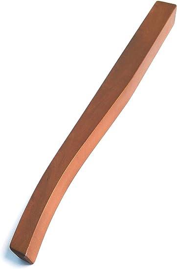 Gambe A Sciabola Per Tavoli.Set 4 Gambe Sciabola Piede In Legno Per Tavolo Fin Ciliegio H 75
