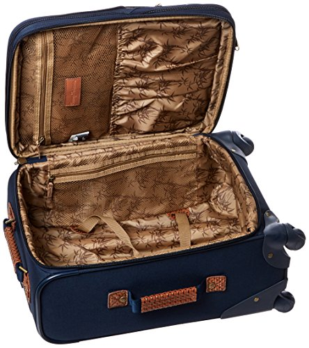 Tommy Bahama Expandable Spinner Carry On Suitcase, Navy, 20