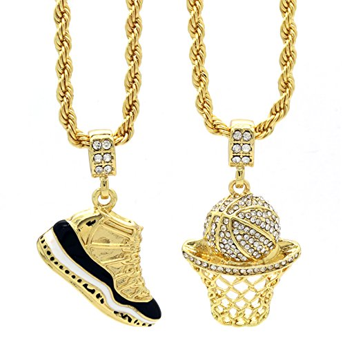 L & L Nation Mens Gold Plated HipHop Retro 11