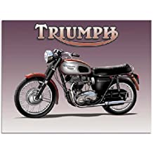 Triumph Motorcycle Metal Sign: Motorcycles and Scooters Decor Wall Accent