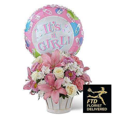 Itu0027s A Girl Flowers   Same Day Baby Shower Flowers Delivery   Baby Flowers    Baby