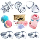 LoveS Bath Bomb Mold - 43pcs including Bath Bomb Molds/Heat Shrink Bags/Shredded Paper for Wrapping, for Homemade Bath Bombs