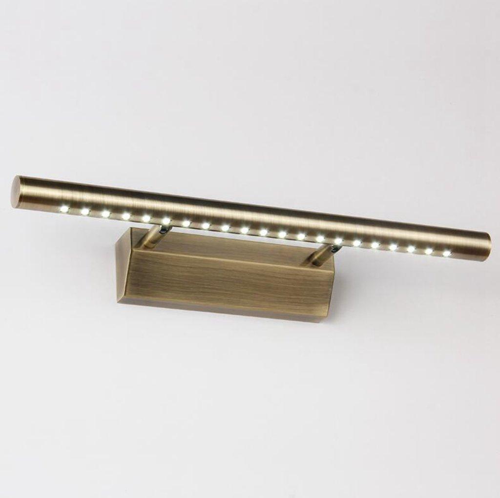 Olydsky Spiegellampe, einfache Europäische Spiegelschrank, Badezimmer Badezimmer Spiegelschrank leuchtet Material  Acryl Licht Farbe  weißes Licht Größe  55 cm
