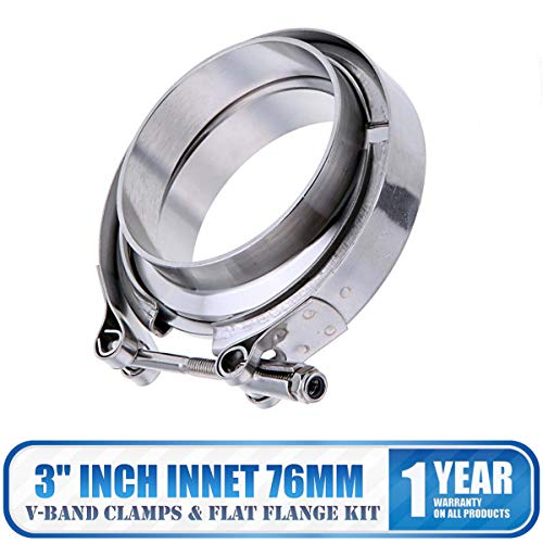 Stainless Steel V Band Flat Flange Clamp Kit Assembly - MASO 3