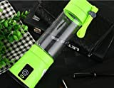PLLP Charging Juicer Mini Fruit Glass Portable Electric Juice Juice Cup Creative Gift,Green