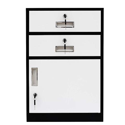 ZYH-Shelf Archivador, 2 Cajones Gabinete Estacionario con ...