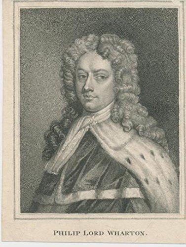1820 Original Antique - Philip Lord Wharton c.1820 original antique stipple engraved historical portrait