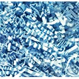 1/2 LB Crinkle Cut Paper Shred - Light Blue - Gift Basket Filling by Uline