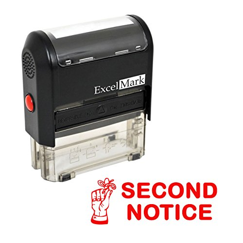 SECOND NOTICE - Self Inking Bill Collection Stamp in Red Ink