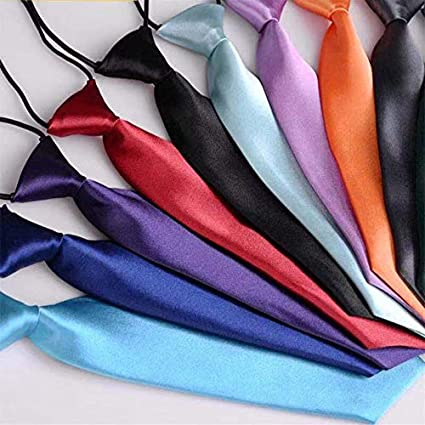 Escuela Niños Niños Niños Bebé Boda Color sólido Corbata elástica ...
