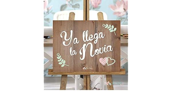 Cartel Ya llega la Novia Rosa y Verde: Amazon.es: Hogar