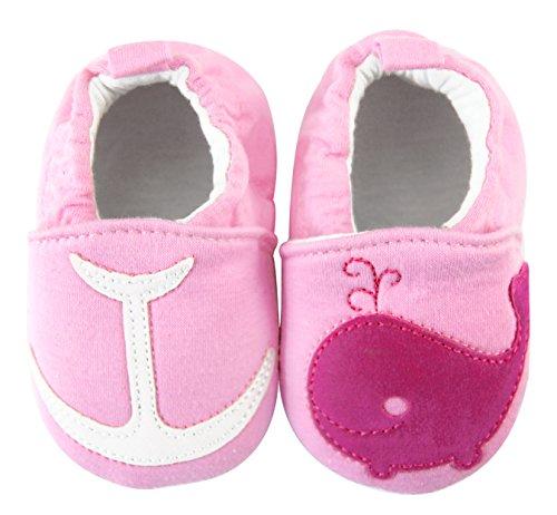 axy - Patucos de tela para niña Rosa rosa