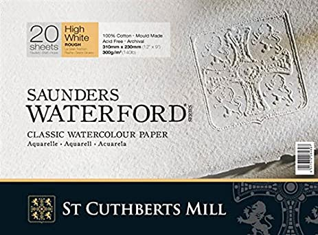 Saunders Waterford Block 300gsm 230 X 310mm (9u0026quot; ...