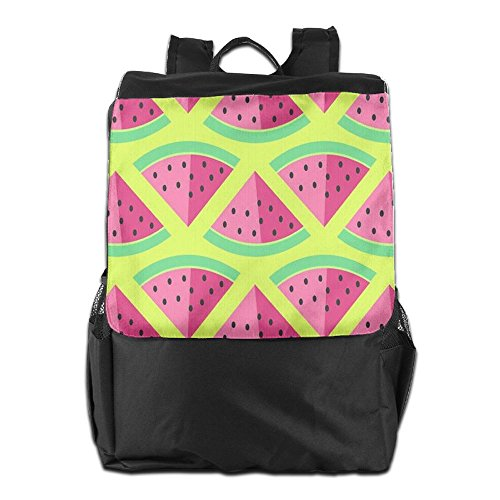 HSVCUY Personalized Outdoors Backpack,Travel/Camping/School-Watermelons Adjustable Shoulder Strap Storage Dayback For Women And Men