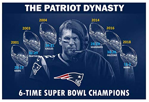 PosterWarehouse2017 Patriots 6-TIME Super Bowl Champions 19