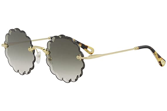 Chloé Lunettes de Soleil ROSIE CE142S GOLD OLIVE GREEN GREY SHADED femme d4385acb8221