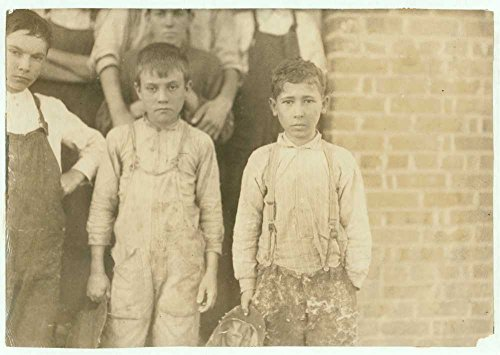 Clayton 4 Panel (1912 Photo Groups of doffers, etc., all working in the Liberty Cotton Mill, Clayton, N.C., taken at 10:00 A.M., October 29th, 1912. I saw a few very young spinners, one apparently ten years old, worki)