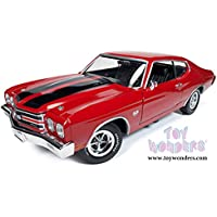 AMM1082 Auto World American Muscle - Chevy Chevelle SS 396 Hard Top (1970, 910gj22r1 7c6cg3nb3 1/18 scale diecast model car, Red) AMM1082 diecast car model AMM1082 Auto World