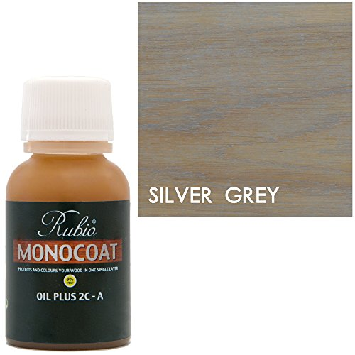 Rubio Monocoat Oil Plus 2C-A Sample Wood Stain Silver Grey - Wood Stain Silver