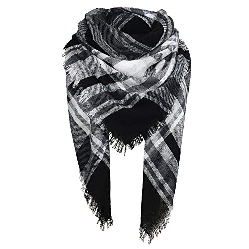 Zando Womens Winter Scarf Plaid ...