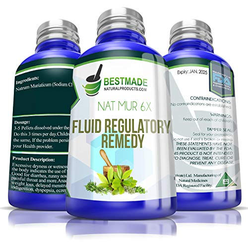NAT Mur 6X Fluid Regulatory Remedy, 300 pellets Useful for Conditions of Excessive Dryness or Moisture, A Natural Remedy for Constipation, Eczema, Dry Mouth, Constant Thirst OR Excessive Mucous