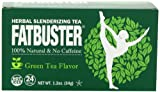 Fatbuster Herbal Slenderizing Tea Green Tea Flavor - Weight Loss Diet Tea, 24-Count Tea Bags (Pack of 6)