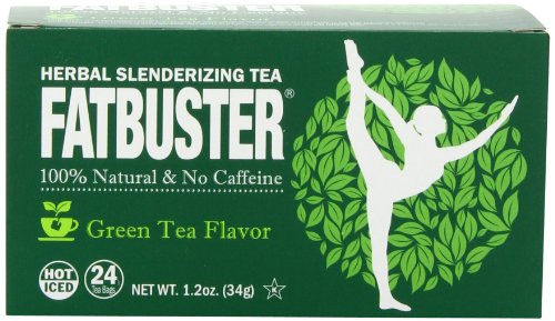Price comparison product image Fatbuster Herbal Slenderizing Tea Green Tea Flavor - Weight Loss Diet Tea, 24-Count Tea Bags (Pack of 6)