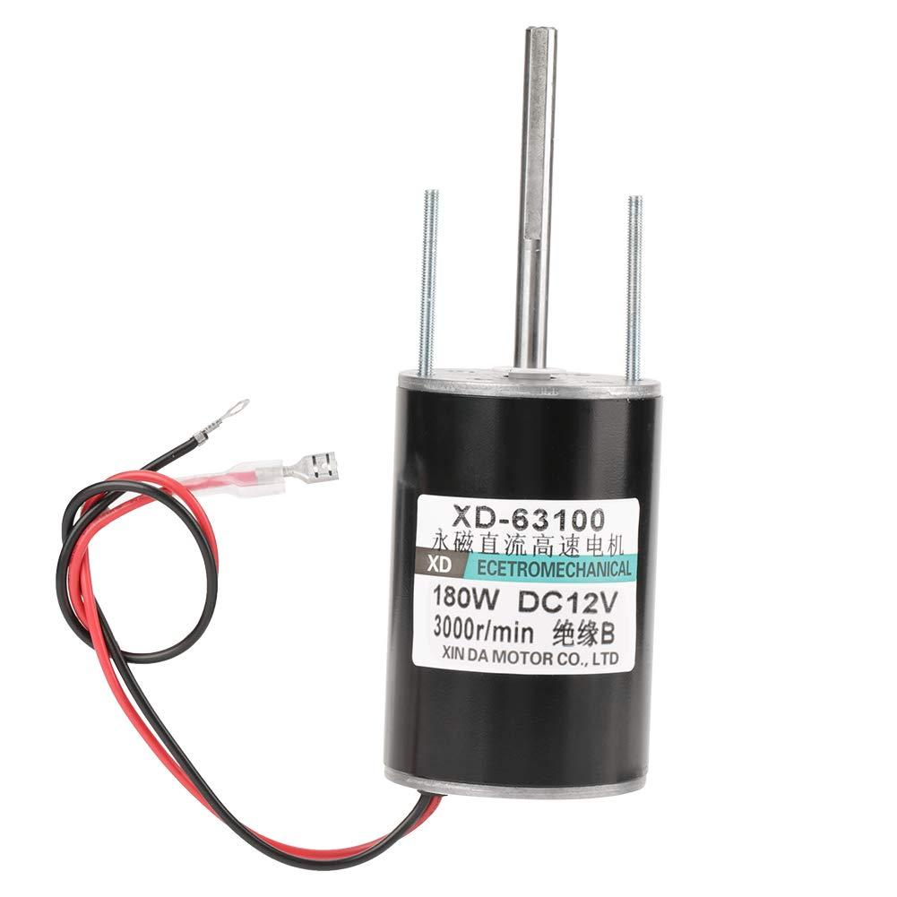 12 / 24V 150W Motor EléCtrico Cw/Ccw de Alta Velocidad Del Cepillo de Alta Potencia Del Poder Grande Para El Generador de Diy(12V3000rpm)
