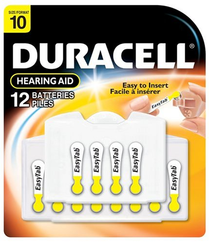 Duracell EasyTab Hearing Aid Batteries Size 10 (24